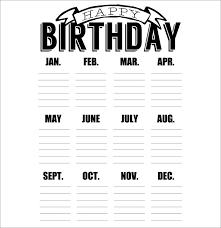 birthday calendar template free download birthday calendar print free download printable birthday calendar