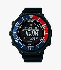seiko sbep003 digital watch reinforcement waterproofing upto 20bar charges via solar energy and a