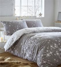 brushed cotton duvet set galaxy stars flannelette quilt