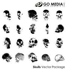 移動メディア制作ベクター素材 人間の頭蓋骨 無料素材イラスト