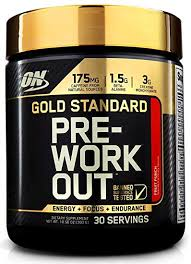 optimum nutrition gold standard pre workout with creatine beta alanine and caffeine