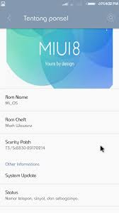 After flashing rom go to singal fix app and just clik for fixing icon on statu bar and then go to setting application installed then google play service permissions and active all. Custom Rom Miui 8 Untuk Advan S5e Nxt Custom Rom Advan