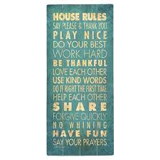 planked wood wall decor with a typographic motif product wall decorconstruction material wood on house rules wooden wall art with planked wood wall decor with a typographic motif product wall