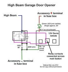 installing a garage door opener wired to motorcycle hi beam 7 picture of high beam opener jpg