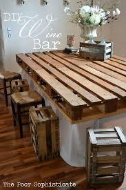 unique diy furniture. diy pallet wine bar unique diy furniture