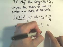 finding the center radius form of a