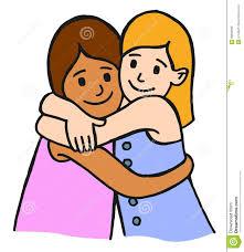 kids hug clipart. royalty-free vector. download hugging children kids hug clipart