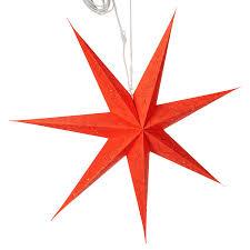 Weihnachtsstern Hängend Papier Perforiert Rot 78 X 78 Cm