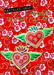 mexican tin heart folk craft diy mypoppet com au