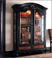 altra bookcase with sliding glass doors black bookcases an