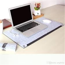 computer desk mats double felt mouse pad large size keyboard multi function writing winter warmth grey