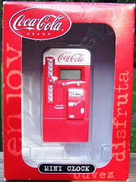 Coca Cola Mini Vending Machine Enchanting Coca Cola Coke Collectible Mini Clock CocaCola Coke Vending