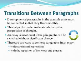 example essay 9 transitions between paragraphsiuml130151 developmental paragraphs in the example essay