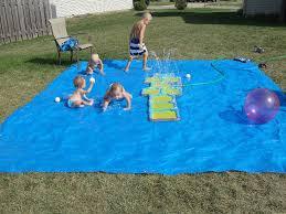 cool diy splash pad for your little ones outdoor swim party kidsomania