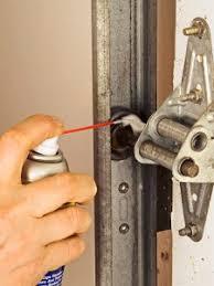 garage door maintenance with wd40