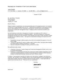 cover letter description residential construction project manager job description creative