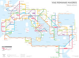 Infographic The Roman Empires Roads In Transit Map Form