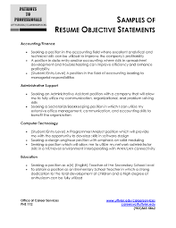 Best Resume Objective Statements Proyectoportal Com