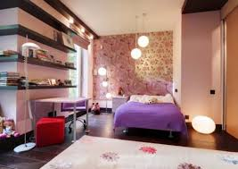 bedroom ideas for teenage girls purple and pink. Teenage Girls Bedroom Butterfly Wall Decor Theme Ideas Blue Paint Idea Iron Bed Purple Blanket Admirable For And Pink