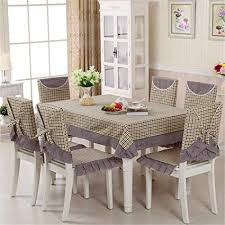 zghafbes 13pcs set rectangular tablecloth and dining chair covers dust proof home decoration wedding table