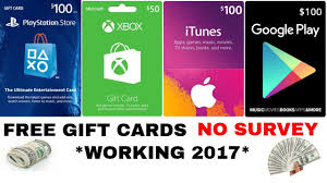 how to get unlimited gift cards no survey 2017 playstation xbox itunes google play etc
