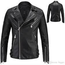 2018 leather jacket men brand motorcycle leather jackets men hot designer men casual biker coat size m 3xl from bigget 90 46 dhgate com