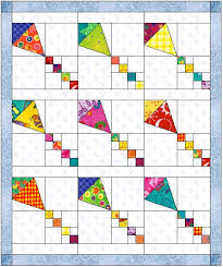 Block of the Month March 2006 & If you have EQ5, I will be happy to e-mail you the file, and you can print  the paper piecing template for the body of the kite with your printer. Adamdwight.com