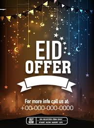 Eid Special Offer Sale Flyer Vector Set 02 Eps File Free