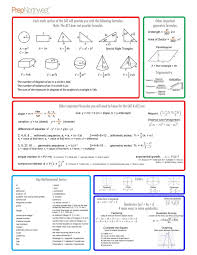 Act Math Worksheets Pdf With Answers Prep Free Printable | Gigidiaries