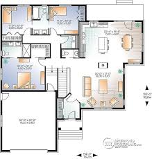House plan W  V detail from DrummondHousePlans com st level New Craftsman house plan  large kitchen island  central fireplace  open floor