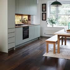 dark wood flooring kitchen. Fine Kitchen Junckers Dark Wood Floor With Pale Green KitchenWondrous Ways  Flooringkitchen Inside Dark Wood Flooring Kitchen R