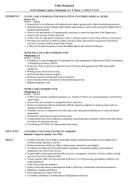 home health care resume. Home Care Coordinator Resume Samples Velvet Jobs