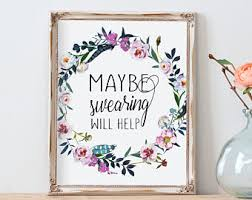 home office wall art. office wall art maybe swearing will help floral boho home