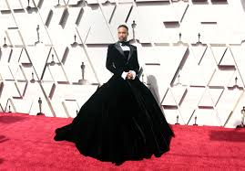 Red Carpet Designer Evening Gowns Billy Porter Wears Christian Siriano Tuxedo Gown To Oscars 2019