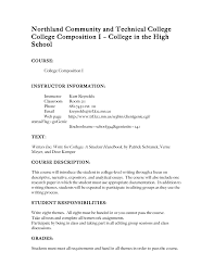 college syllabus template syllabus college comp i