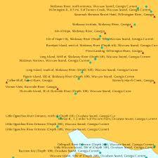 Skidaway Island Tide Chart Pigeon Island Sse Of Skidaway River Depth 10ft Wassaw