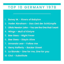 Top 10 Germany 1978 Germany German Records Charts