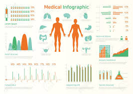 Medical Infographic Set With Charts And Other Elements Vector