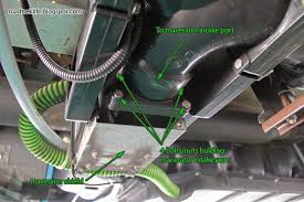 roadtrek modifications mods rv upgrades modificatios holding clamps x2 from the macerator shield using a utility knife cut the hose a quarter inch past the pump discharge outlet port roadtrek used some