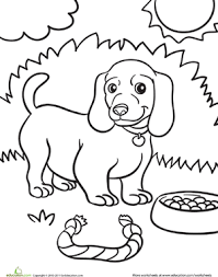 Small Picture Weiner Dog Puppy Coloring Page Weiner dogs Kindergarten and Dog