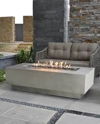 elementi granville outdoor fire pit table with propane gas assembly neiman marcus