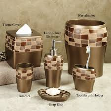 Copper Bathroom Accessories Sets Elegant Bathroom Accessories Set With Golden Color And Garnish Box