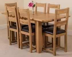 oak dining room sets. Hampton Solid Oak 120-160cm Extending Dining Table With 6 Lincoln Chairs Room Sets