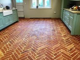 herringbone design terracotta floor after cogenhoe
