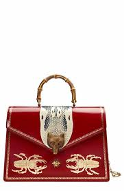 gucci bags fall 2017. gucci large broche beetle print leather satchel bags fall 2017