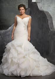 OfftheShoulder VNeck Plus Size Wedding Dress Style 9T9861 At Plus Size Wedding Dress Styles