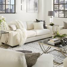 Lionel Modern White Fabric Down-filled Sofa by iNSPIRE Q Artisan