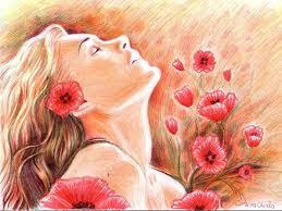 Imagini pentru floare rosie de mac pictura