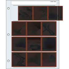 Page Binder Print File Archival Storage Page For Negatives 6x6cm 120 4 Strips Of 3 Frames Horizontal Binder Only 100 Pack