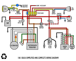 some wiring diagrams page 35 yamaha xs650 forum such as this as you know the only difference between this rec reg and mine is mine are separated